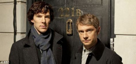 Sherlock and Watson, BBC (Benedict Cumberbatch and Martin Freeman)