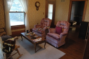 The living room at Safe Haven Farm