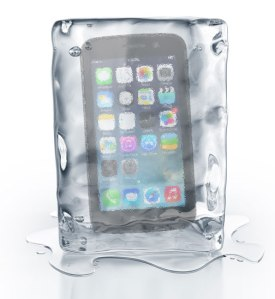 phone-in-ice-poster