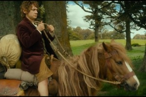Bilbo Baggins on horseback from The Hobbit: An Unexpected Journey....this is what I look like on a horse too
