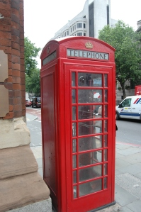 Phone booth, London, England