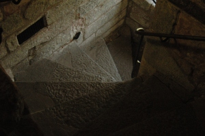 One of the stairwells inside Carlisle Castle