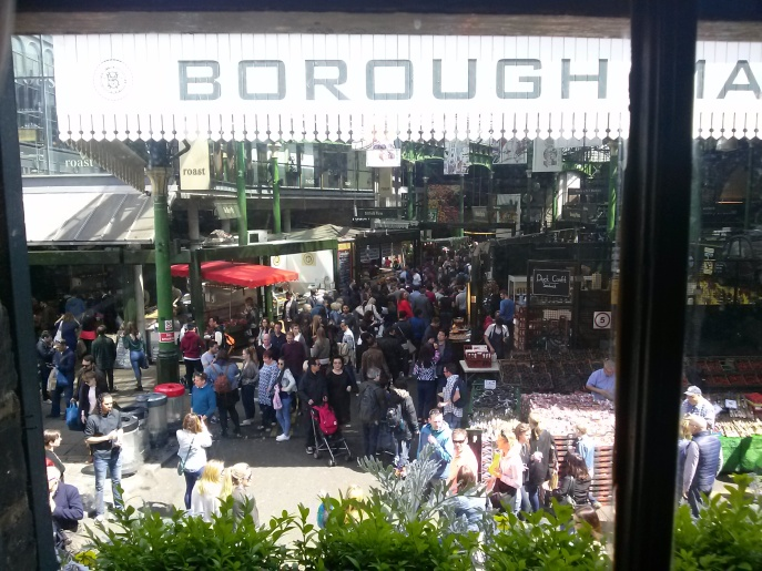 The Borough Market from the pub across the street