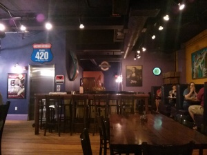 Inside the Mellow Mushroom in downtown Columbia, SC