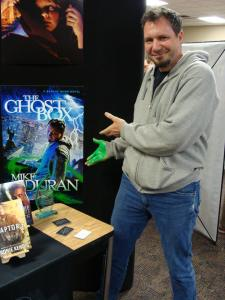 The incredible Kirk DuPonce with his Parable Award winning book cover (for which he modeled)