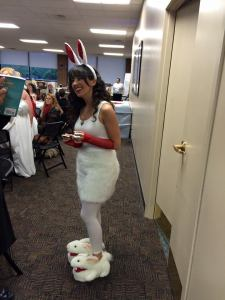 The Killer Rabbit from Monty Python and the Holy Grail (she has sharp pointy teeth!)