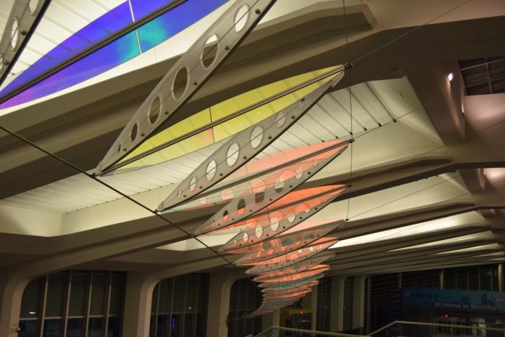 The interior of the new Eisenhower National Airport in Wichita, KS