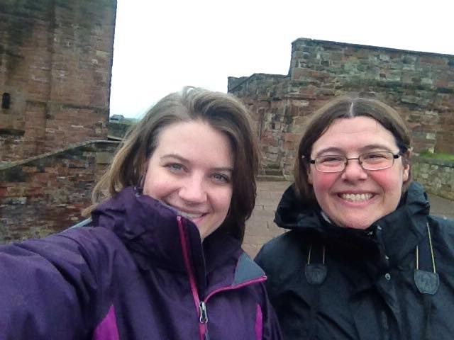 Katie and me at Carlisle Castle May 2015